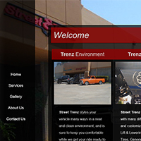 Street Trenz: Website for truck and car styling.